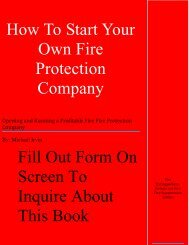 How To Start Your Own Fire Protection Company - Fescousa.com