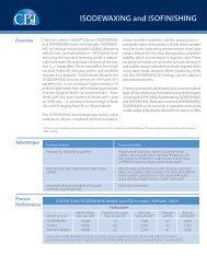 ISODEWAXING and ISOFINISHING - CB&I