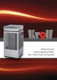Well-proven and indestructible: the Kroll multi oil heater - Kroll GmbH