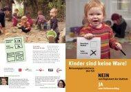 Kinder sind keine Ware! - vpod Bern