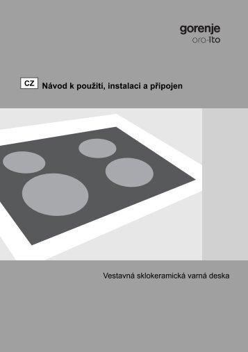 Návod k použití, instalaci a připojen