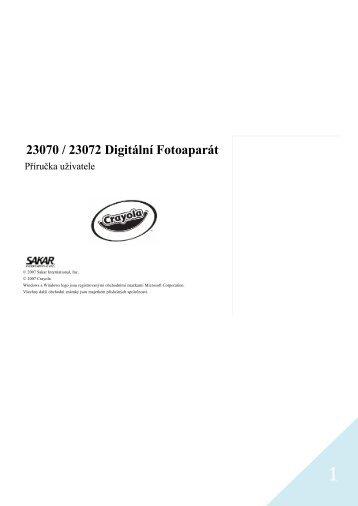 23070 / 23072 Digitální Fotoaparát - Alza