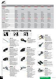 SPARE PARTS REARSETS - VASSALOS moto accessories