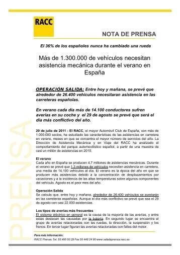 NP Averias verano España 2011