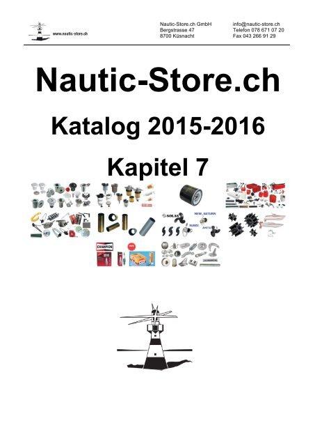 Nautic-Store.ch Bootszubehör Katalog Kapitel 7
