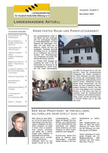 landesakademie aktuell - Landesakademie für musisch-kulturelle ...