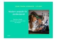 Modern analytik för skoländamål - Skolresurs.fi