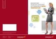 RadiateuRs PouR des systèmes de chauffage basse température
