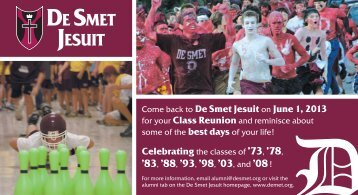Come back to De Smet Jesuit on June 1, 2013