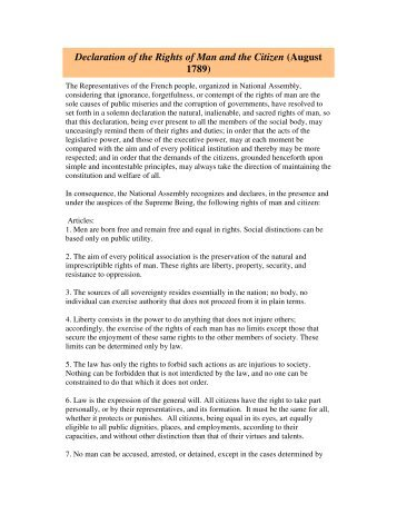declaration of the rights of man and citizen pdf