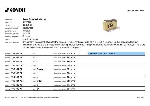 Deep Bass Xylophone 23201201 GBKX 10 Rosewood natural