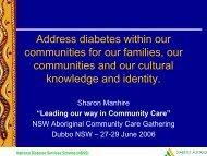 Updates in Diabetes - NCOSS