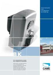 Automatisaties voor schuifhekken tot 2200 Kg - Came