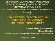 marketing electronic şi e-business în condiţii de criză ... - ecr-uvt