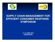 SUPPLY CHAIN MANAGEMENT FOR EFFICIENT ... - ecr-uvt