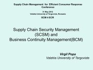 Supply Chain Security Management (SCSM) and Business ... - ecr-uvt