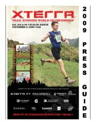 XTR Worlds PG 09 without team stuff:XTERRA USA PRESS GUIDE ...