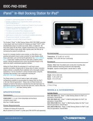 Product Specifications: IDOC-PAD-DSWC - Crestron