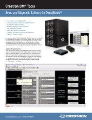 Crestron DM® Tools - CE Pro