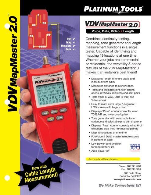 Alligator Platinum Tools T125C Toner Cable RJ45
