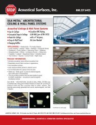 Silk Metal Acoustical Ceiling and Wall Panel Systems