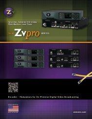 Download ZvPro spec sheet - CE Pro