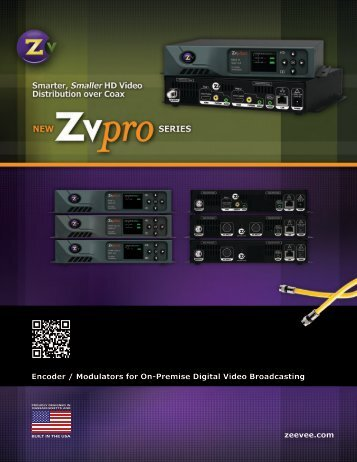 Download ZvPro spec sheet - CE Pro