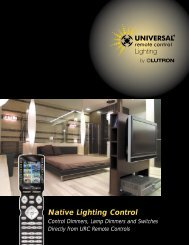 Native Lighting Control - CE Pro