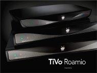 Download Roamio DVR Series spec sheet - CE Pro