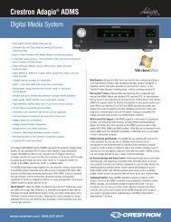 Crestron Adagio® ADMS - CE Pro