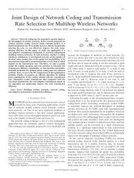 Joint Design of Network Coding and Transmission ... - IEEE Xplore