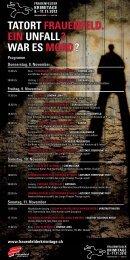 Freitag, 9. november - Frauenfelder Krimitage