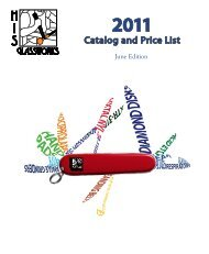 Catalog and Price List - His Glassworks