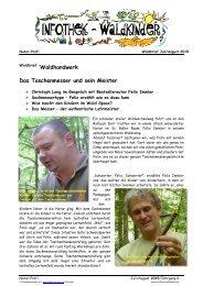 Infothek Waldkinder - Interview mit Bestsellerautor Felix Immler - Das Taschenmesser und sein Meister