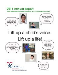 2011 Annual Report - Philadelphia CASA