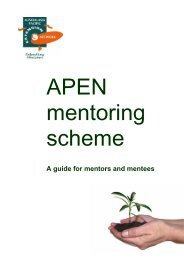 A guide for mentors and mentees - Apen