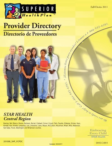 Provider Directory Directorio de Proveedores ... - Fostercare Texas
