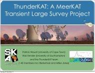 ThunderKAT: A MeerKAT Transient Large Survey Project