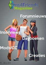 Sims4Friends Magazine #1