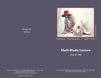 Multi-Media Lecture - Fashion-Flashbacks