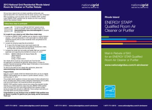 To Download A Mail In Rebate Form National Grid