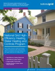 National Grid High- Efficiency Heating, Water Heating and Controls ...