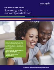 Save energy at home – residential gas rebate form - National Grid