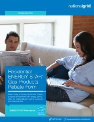 Residential ENERGY STAR® Gas Products Rebate ... - National Grid