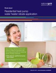 Residential heat pump water heater rebate application - National Grid