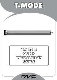 TM 45 R QUICK INSTALLATION GUIDE - FAAC USA