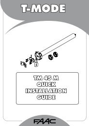 TM 45 M QUICK INSTALLATION GUIDE - Faac