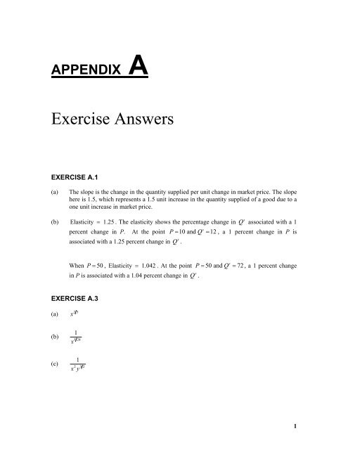 Exercise Answers Principles Of Econometrics
