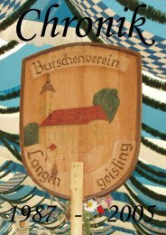 Chronik 1987 - 2005 - Burschenverein Eintracht Langengeisling