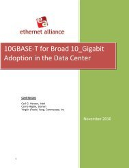 10GBASE-T for Broad 10 Gigabit Adoption in the ... - Ethernet Alliance